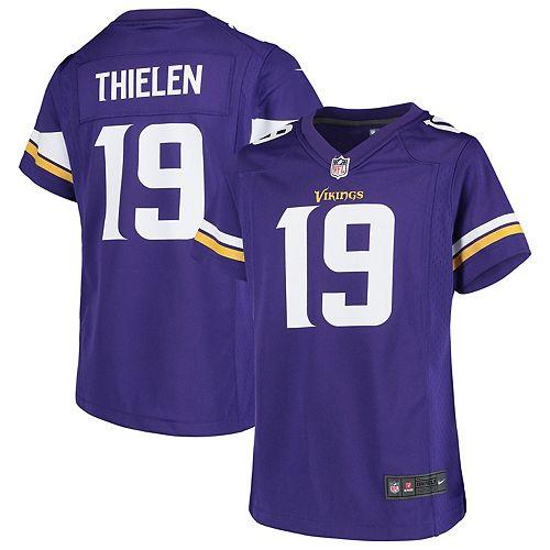 best website 09409 a7722 Girls Youth Nike Adam Thielen Purple Minnesota Vikings Game Jersey