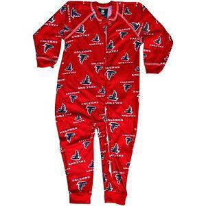 Atlanta Falcons Toddler Piped Full Zip Raglan Coverall - Red
