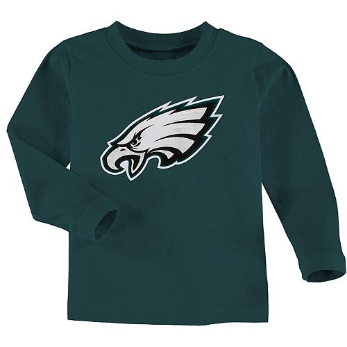 Philadelphia Eagles Toddler Team Logo Long Sleeve T-Shirt - Midnight Green