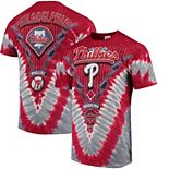 Men's Red/Gray Philadelphia Phillies V Tie-Dye T-Shirt