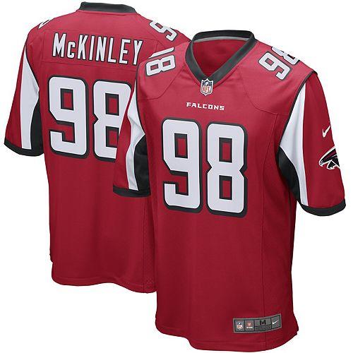 Men's Nike Takkarist McKinley Red Atlanta Falcons Game Jersey