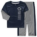Youth Colosseum Navy/Heathered Gray Penn State Nittany Lions Bayharts Long Sleeve T-Shirt and Pants Set