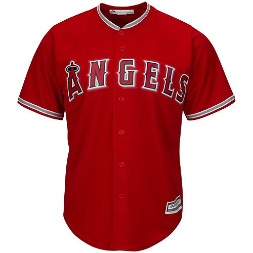 Youth Majestic Scarlet Los Angeles Angels Official Cool Base Jersey