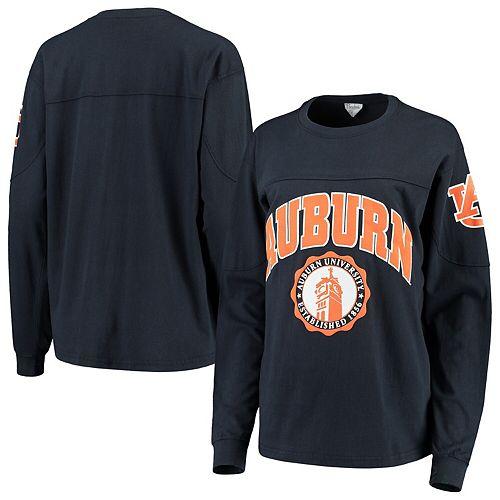 Women's Pressbox Navy Auburn Tigers Edith Long Sleeve T-Shirt