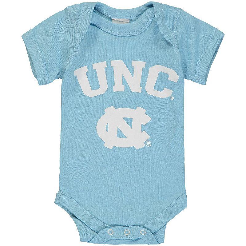 Infant Carolina Blue North Carolina Tar Heels Arch & Logo Bodysuit, Infant Unisex, Size: Newborn, Light Blue