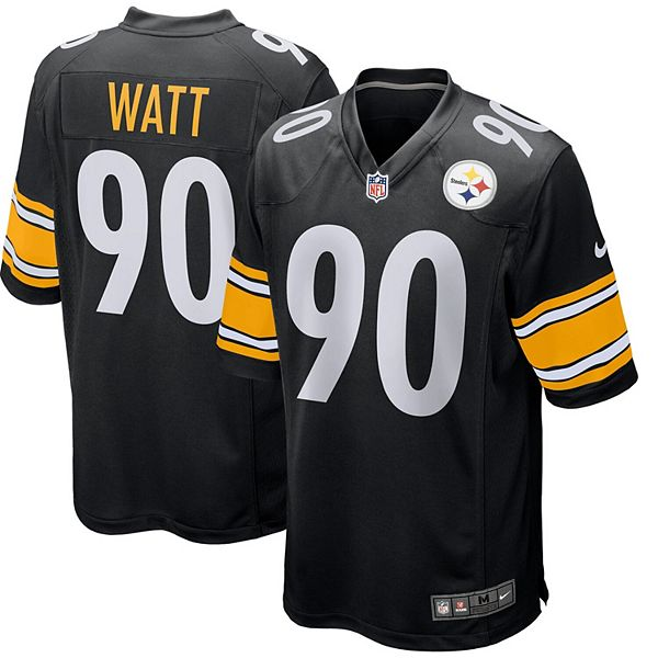 Men's Nike T.J. Watt Black Pittsburgh Steelers Game Jersey