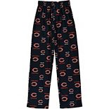 Chicago Bears Youth All Over Print Lounge Pants -Navy Blue