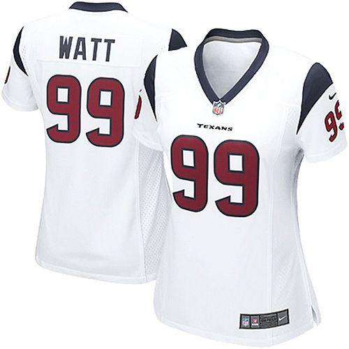 finest selection 7c8a5 dcfb4 Women's Houston Texans JJ Watt Nike White Game Jersey
