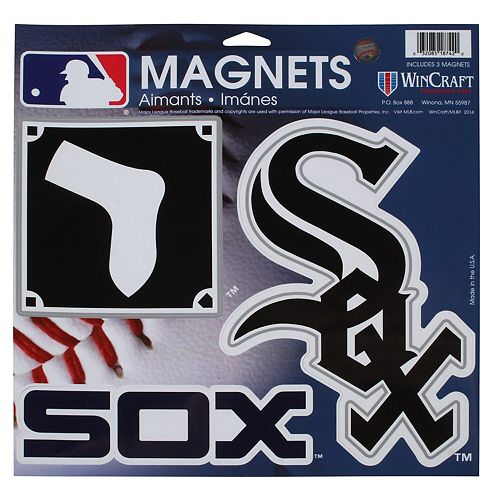 "Chicago White Sox WinCraft 11"" X 11"" 3-Pack Car Magnets"