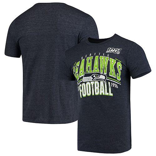 Men's Navy Seattle Seahawks 100th Season Championship Tri-Blend T-Shirt