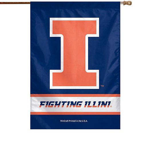 "Illinois Fighting Illini WinCraft 28"" x 40"" Two-Sided Vertical Flag"