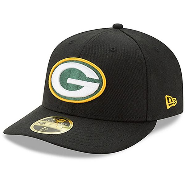 Men S New Era Black Green Bay Packers Omaha Low Profile 59fifty Structured Hat