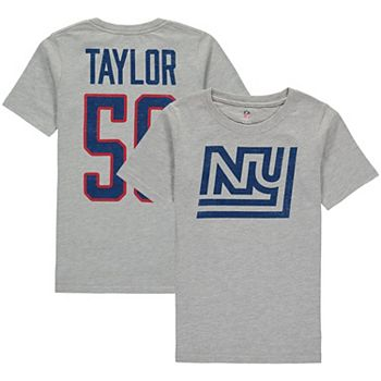 online retailer e2777 6d55f Youth Lawrence Taylor Heathered Gray New York Giants Retired Player Vintage  Name & Number T-Shirt
