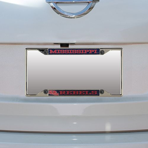 Ole Miss Rebels Small Over Small Mega License Plate Frame