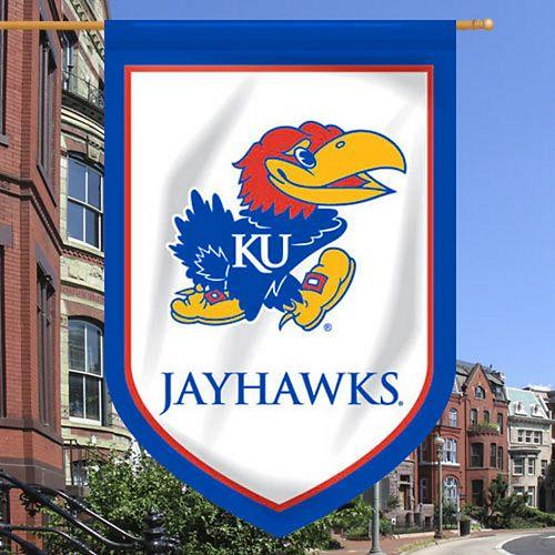"Kansas Jayhawks 28"" x 40"" Double-Sided Shield Flag"
