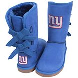 Women's Cuce Royal New York Giants Patron Bow Boots
