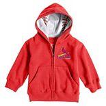 Toddler Soft as a Grape Red St. Louis Cardinals  Baseball Print Full-Zip Hoodie