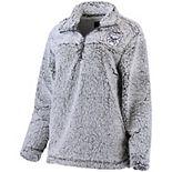 Women's Gray Butler Bulldogs Sherpa Super Soft Quarter Zip Pullover Jacket