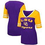 Women's Colosseum Purple LSU Tigers Samantha V-Neck T-Shirt