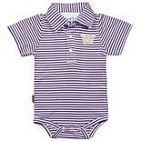Infant Garb Purple/White Washington Huskies Carson Striped Short Sleeve Bodysuit