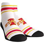 Women's White Iowa State Cyclones Classic Stripes Quarter-Length Socks
