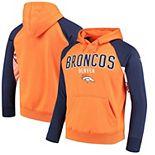 Men's Hands High Orange/Navy Denver Broncos Free Agent Pullover Hoodie