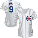 Women's Majestic Javier Baez White Chicago Cubs Cool Base Player Jersey