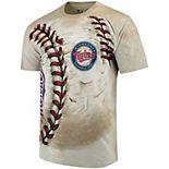 Men's Cream Minnesota Twins Hardball Tie-Dye T- Shirt
