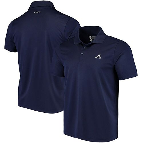 Men's CBUK by Cutter & Buck Navy Atlanta Braves Fairwood DryTec Polo