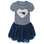 Girls Toddler Navy/White New England Patriots Celebration Tutu Sequins Dress