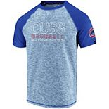 Men's Fanatics Branded Heathered Royal/Royal Chicago Cubs Made to Move Raglan T-Shirt
