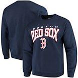 Men's Stitches Navy Boston Red Sox Pullover Crew Sweatshirt