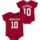 Infant Jimmy Garoppolo Scarlet San Francisco 49ers Mainliner Name and Number Bodysuit