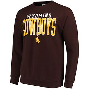 Men's Champion Brown Wyoming Cowboys Eco Powerblend Expansion Pullover Sweatshirt