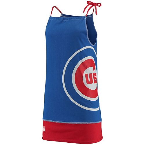 Women's Refried Tees Royal Chicago Cubs Tee-Tank Dress