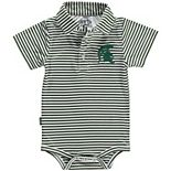 Infant Garb Green/White Michigan State Spartans Carson Striped Short Sleeve Bodysuit