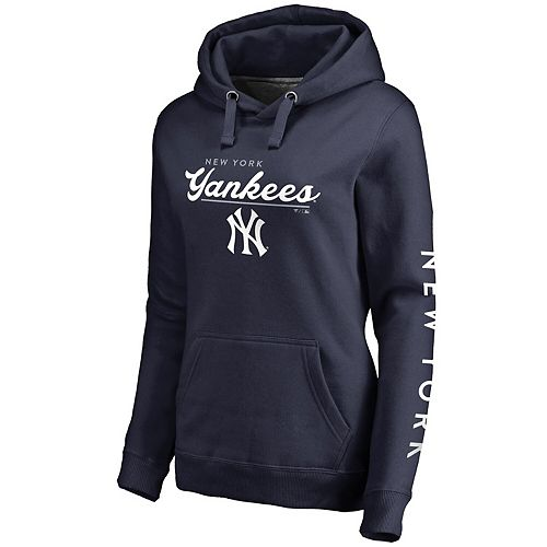 Women's Fanatics Branded Navy New York Yankees High Class Pullover Hoodie