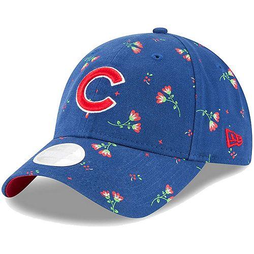 Women's New Era Royal Chicago Cubs Blossom 9TWENTY Adjustable Hat
