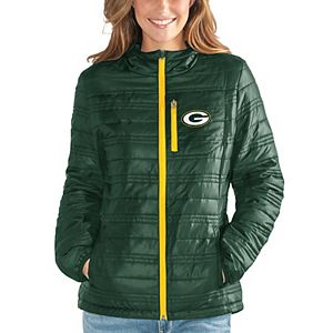 Women's G-III 4Her by Carl Banks Green Green Bay Packers Formation Packable Full-Zip Jacket