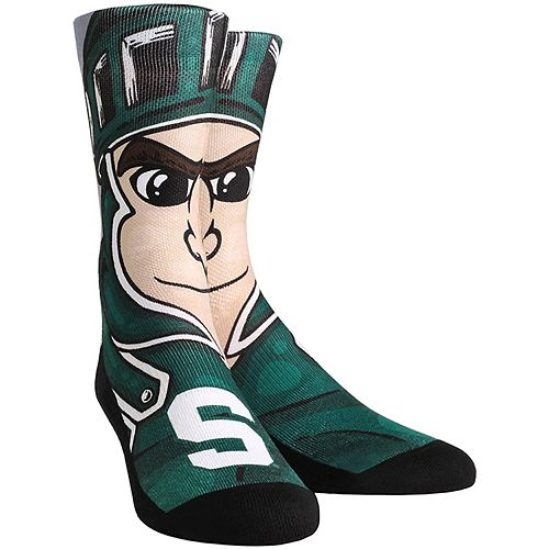 Women's Michigan State Spartans Mascot Crew Socks