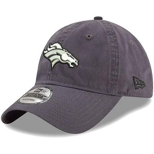 Men's New Era Charcoal Denver Broncos Paramount 9TWENTY Adjustable Hat