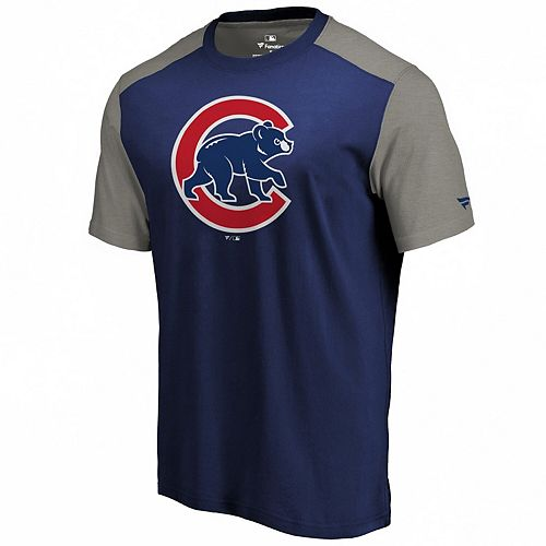 Men's Fanatics Branded Royal/Gray Chicago Cubs Iconic T-Shirt