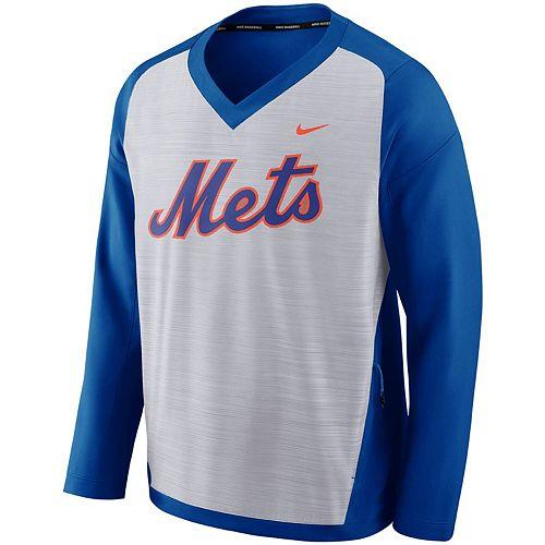 Men's Nike Gray New York Mets Performance Pullover Windshirt