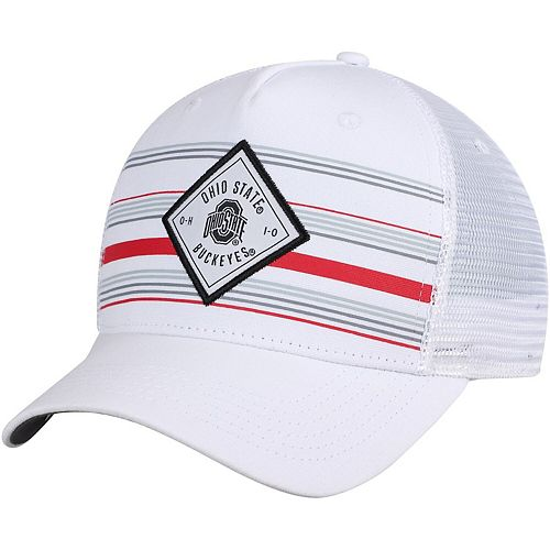 Men's Top of the World White Ohio State Buckeyes 36th Ave Trucker Adjustable Hat