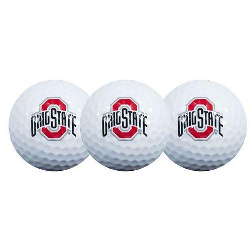 Ohio State Buckeyes Pack of 3 Golf Balls
