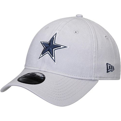 Men's New Era Gray Dallas Cowboys Team Logo Core Classic Twill 9TWENTY Adjustable Hat