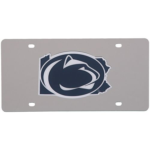 Penn State Nittany Lions Acrylic State Shape Silver Mirror License Plate
