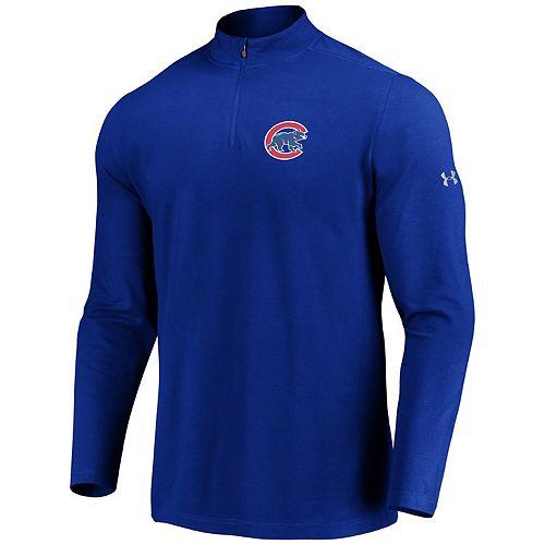 Men's Under Armour Royal Chicago Cubs Passion Performance Tri-Blend Quarter-Zip Pullover Jacket