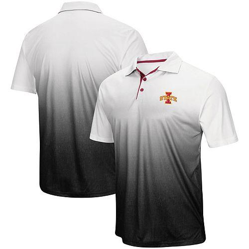 Men's Colosseum Gray Iowa State Cyclones Magic Team Logo Polo