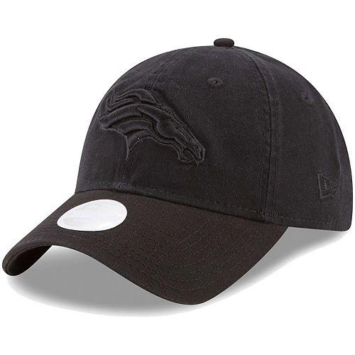 Women's New Era Black on Black Denver Broncos Core Classic 9TWENTY Adjustable Hat